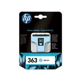 HP Tinteiro 363 Cyan Claro...